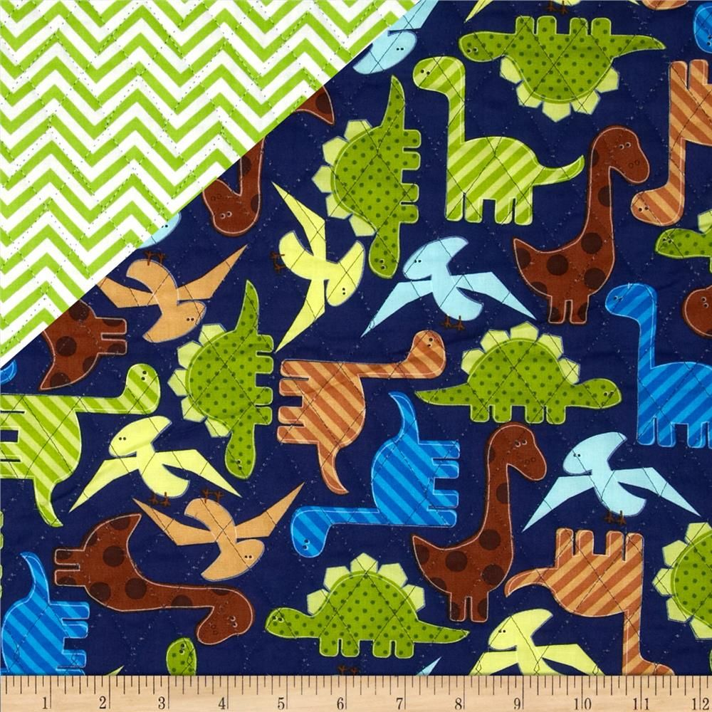 Urban Zoologie Double Faced Quilted Dinosaurs/Argyle Multi from ... : double faced quilted fabric - Adamdwight.com