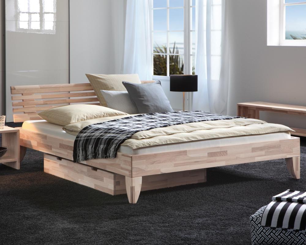Massivholzbett  Hasena Wood-Line Massivholzbett Cima/Litto - bestellen bei Möbel ...