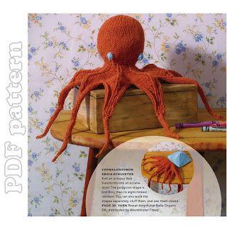 Octopus Plush English Knitting Pattern PDF | CraftyLine e-pattern shop