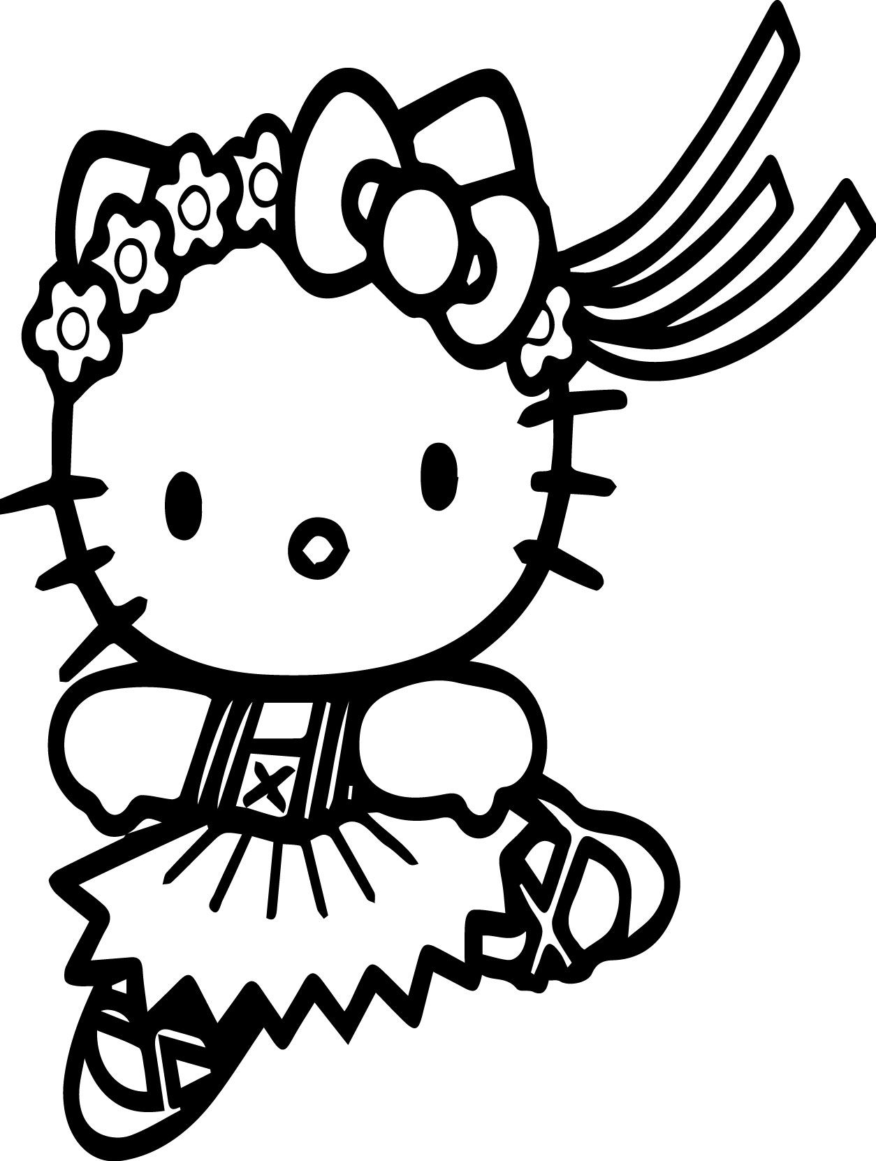 Hello Kitty Run Coloring Page Hello Kitty Colouring Pages Hello