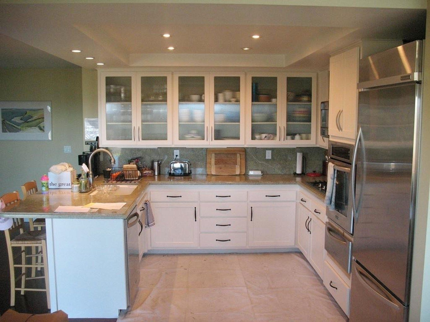 replace kitchen cabinet doors only   Glass kitchen cabinet ...