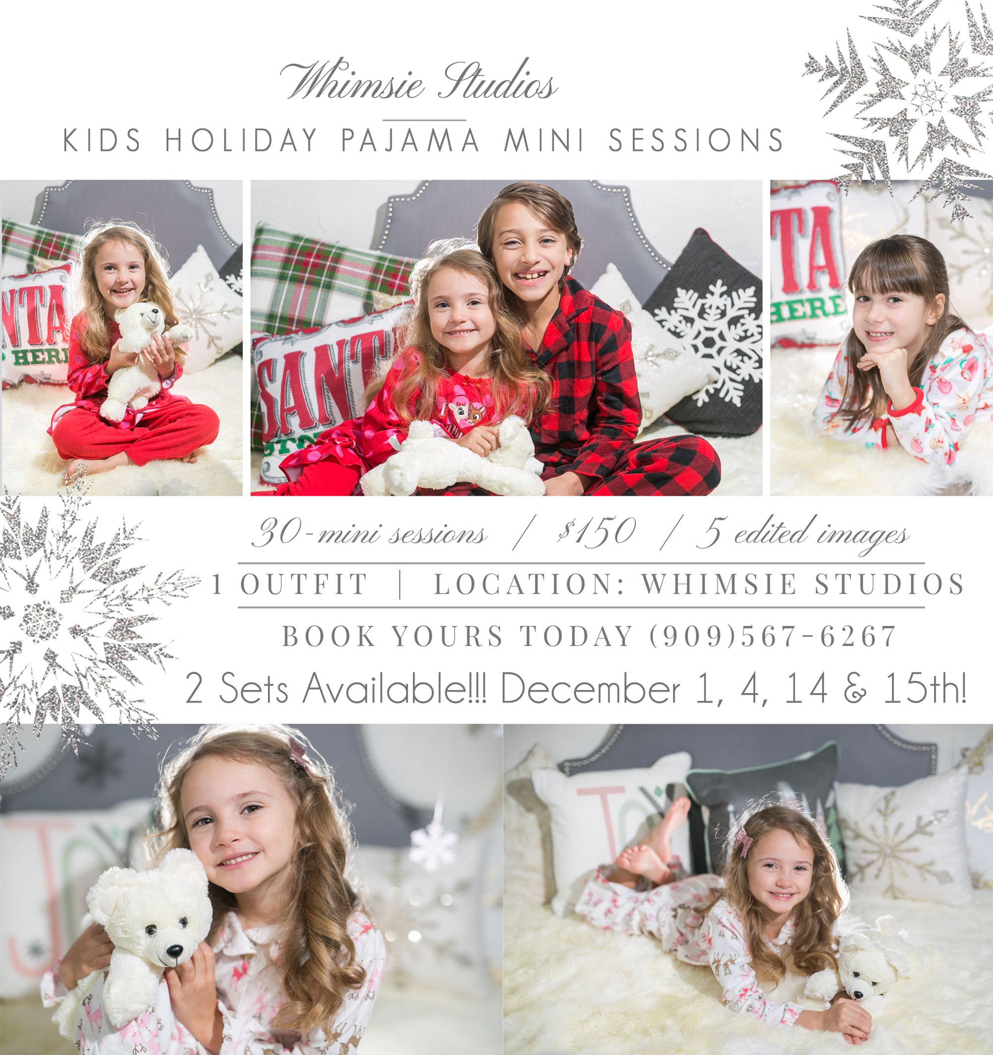 Christmas Pajamas Photoshoot.Children Holiday Christmas Pajama Photoshoot Mini Session Pj