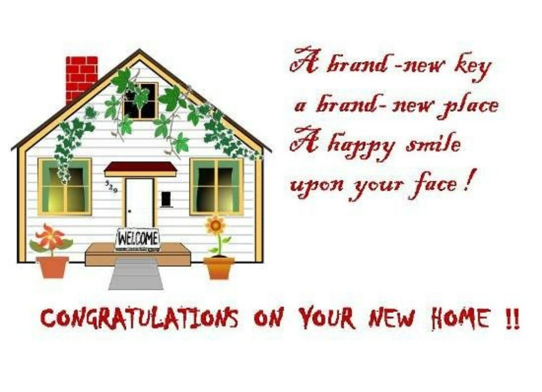 Congratulations On Your New Home New Home Greetings New Home