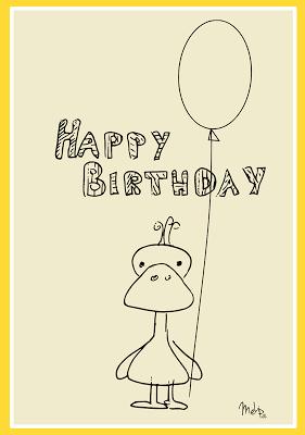 free printable happy birthday card - happy birthday karte - freebie   alles gute zum geburtstag
