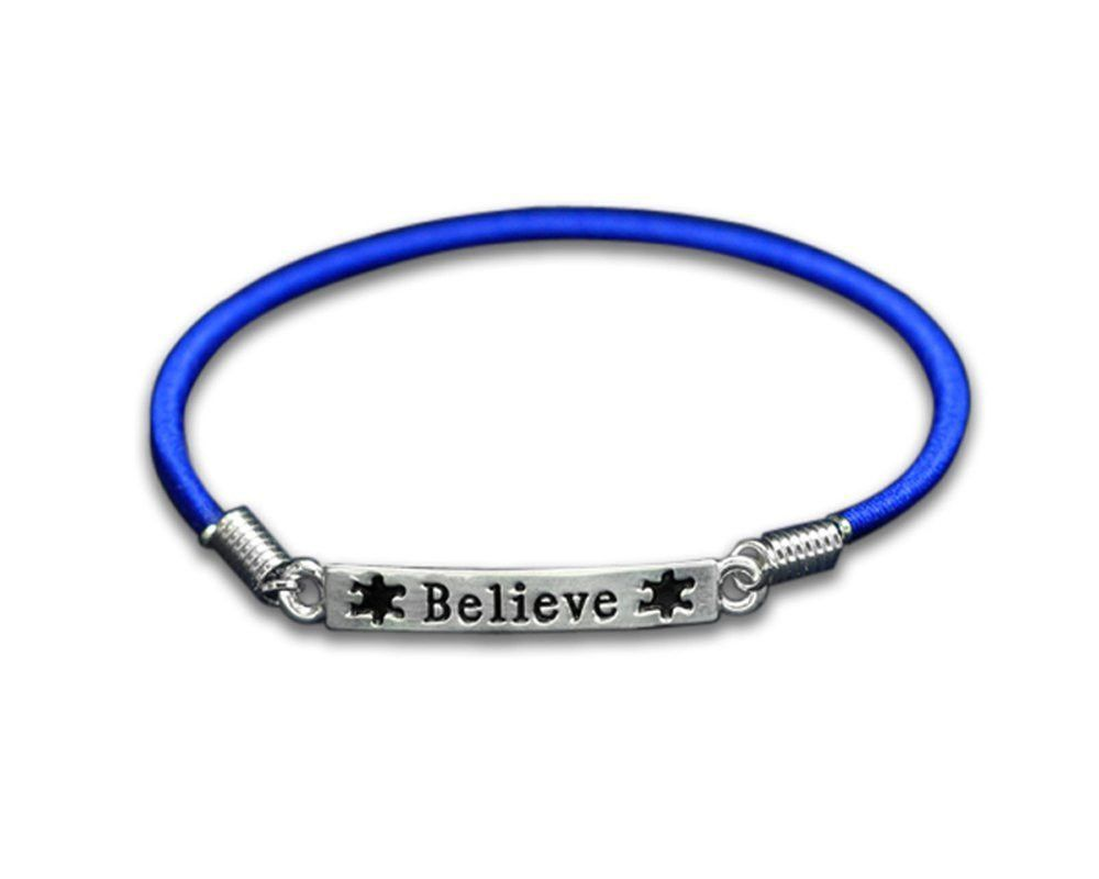 Buy Autism And Aspergers Believe Stretch Charm Bracelet At The House Of  Awareness For Only $ 499