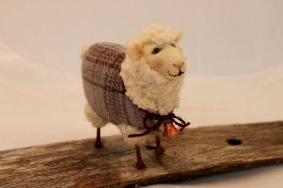 Schapen Lammies in paarse Overdyed geruite Jammies door Liongate