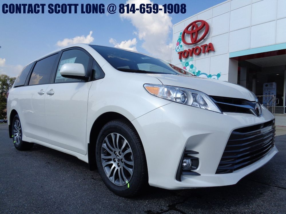 2019 Toyota Sienna New Front Wheel Drive Xle Nav Package Fwd Blizzard Pearl Navigation Leather Sunroof 8 Penger Ebay