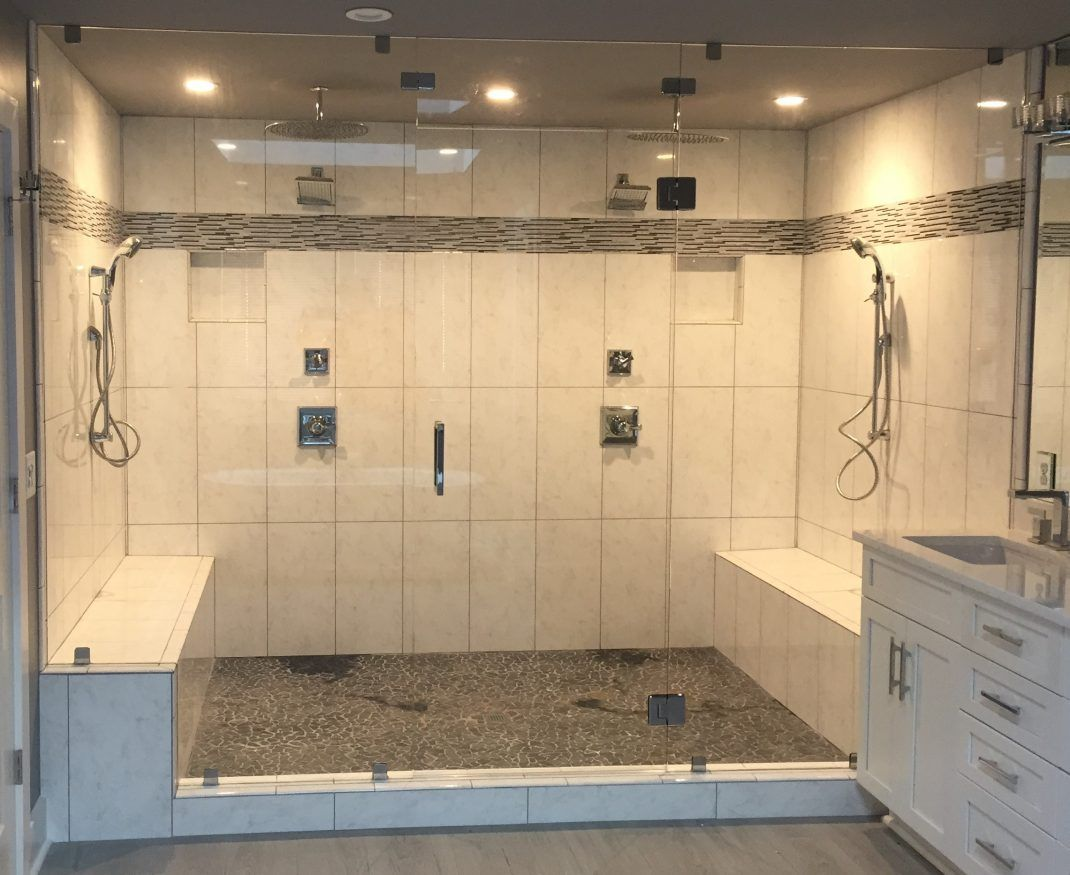 Steam Showers Frameless Shower Doors Bathroom Interiors