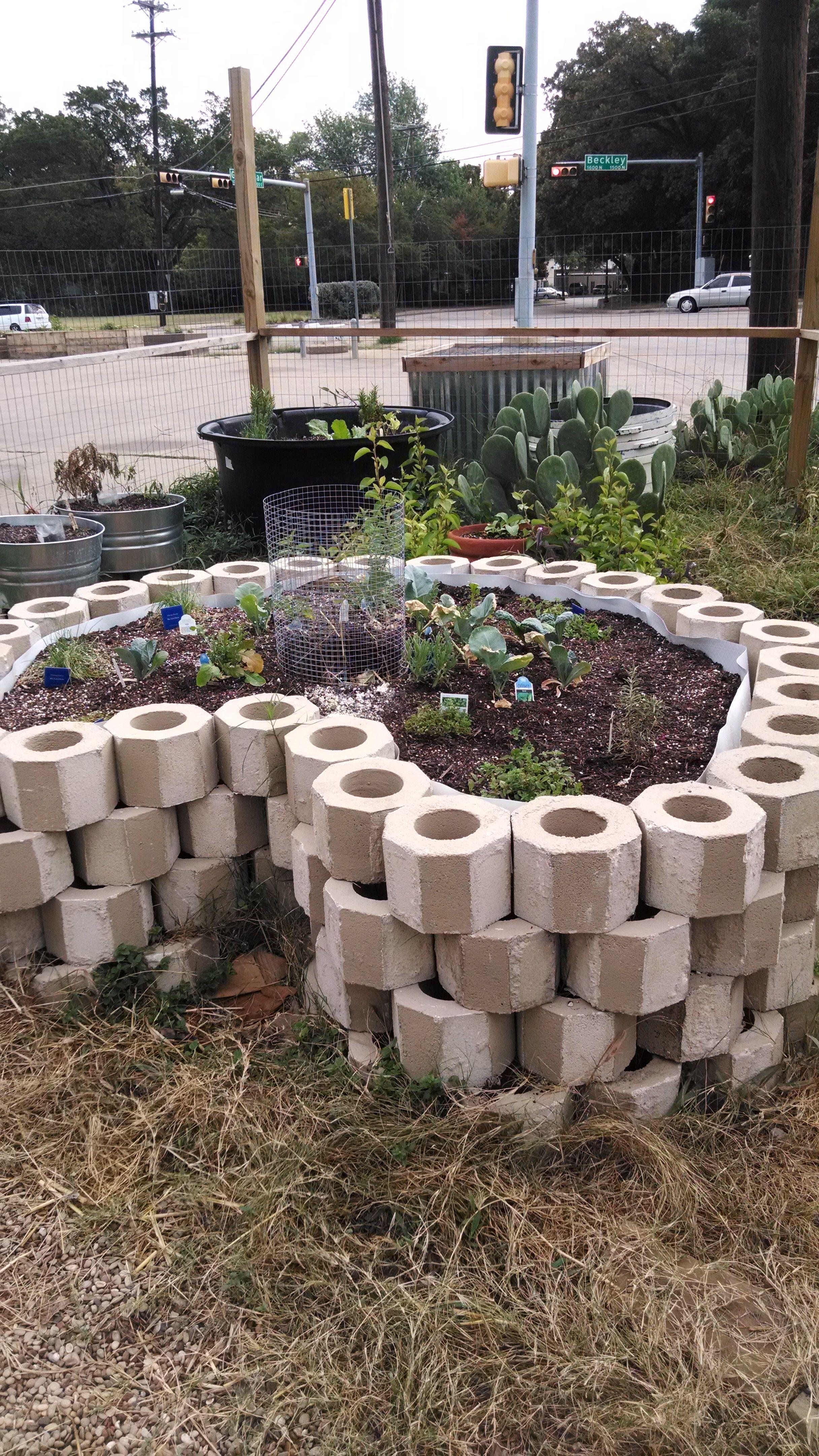clay cylinder raised bed Google Search Garden design