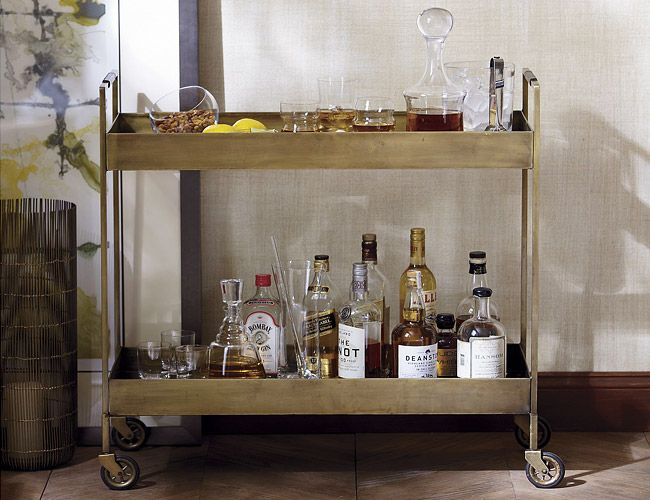 Crate Barrel Libations Bar Cart