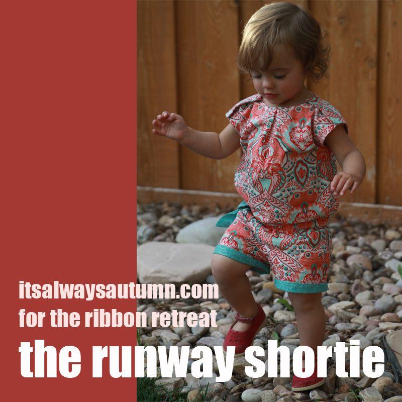 sew: the runway shortie {free pattern download | Rund ums Kind ...