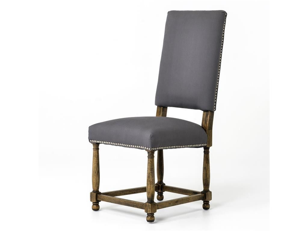 Townley Dining Chair Grey Linen