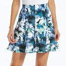 A Blue/white floral skirt from Kohl's