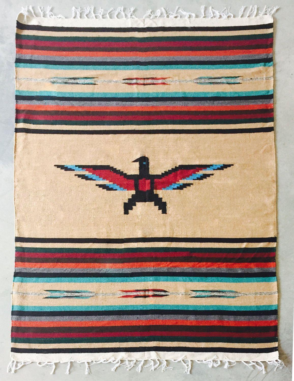 Native Thunderbird Throw Or Rug Tan American Rugs Patterns