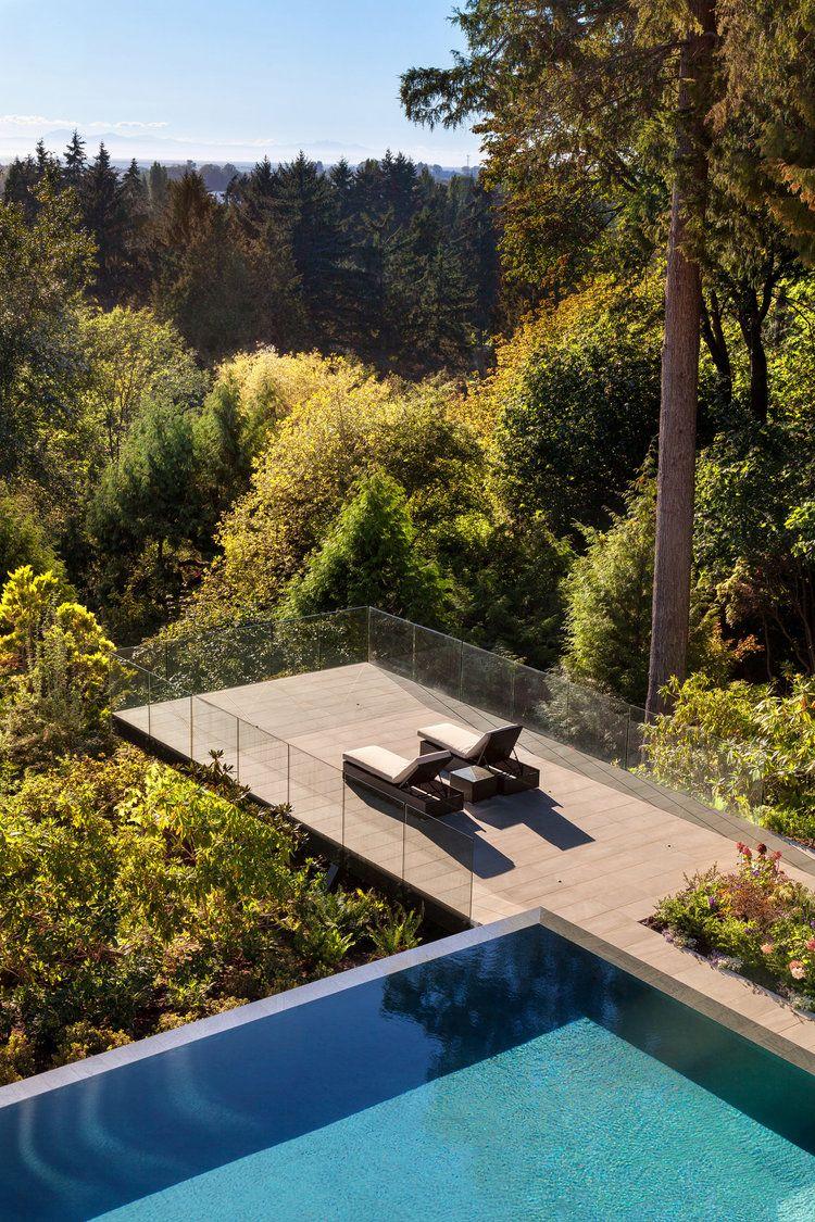 Cantilevered Deck Water Architecture The Gables Outdoor Landscaping