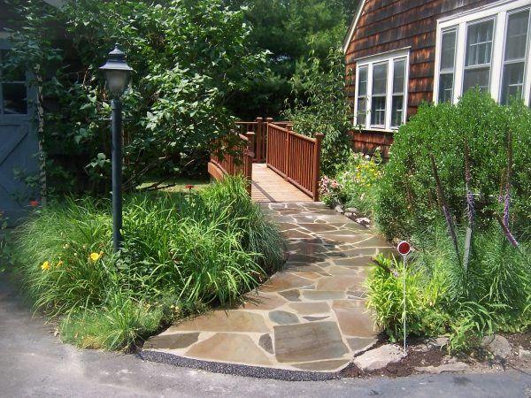 naturstein gartenweg brücke-vorgarten gestalten | garten, Gartenarbeit ideen