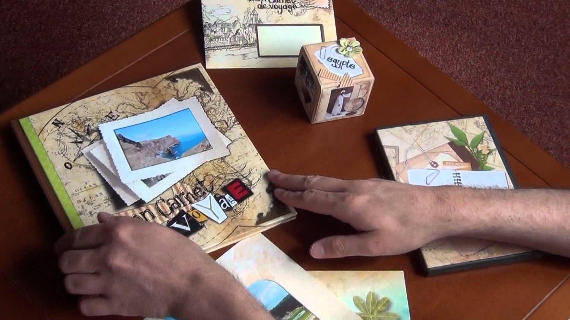 Les réalisations du kit Récit de voyage faites avec Studio-Scrap.