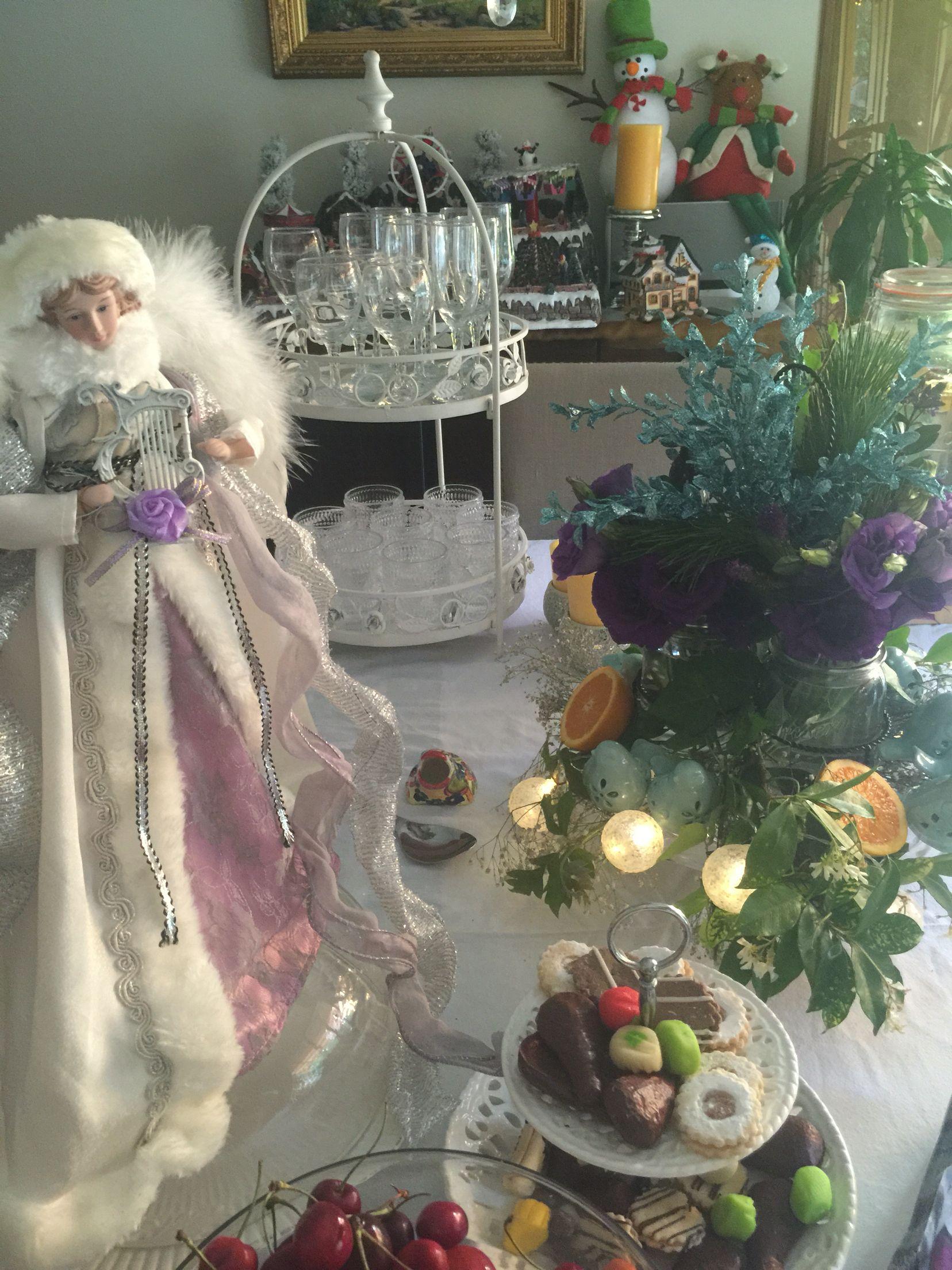 Navidad natural frutas y Pino natural