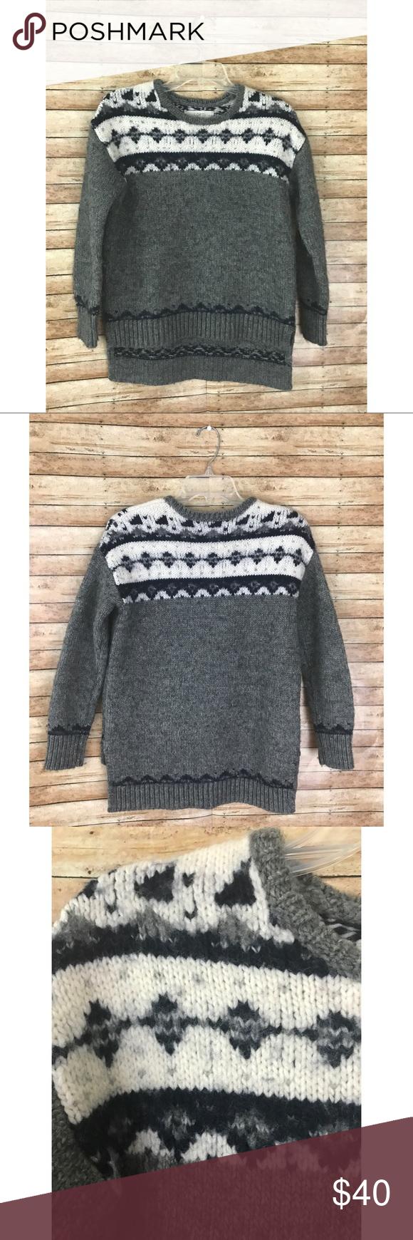 Ann Taylor LOFT Gray Slouchy Fair Isle Sweater | Ann taylor loft ...