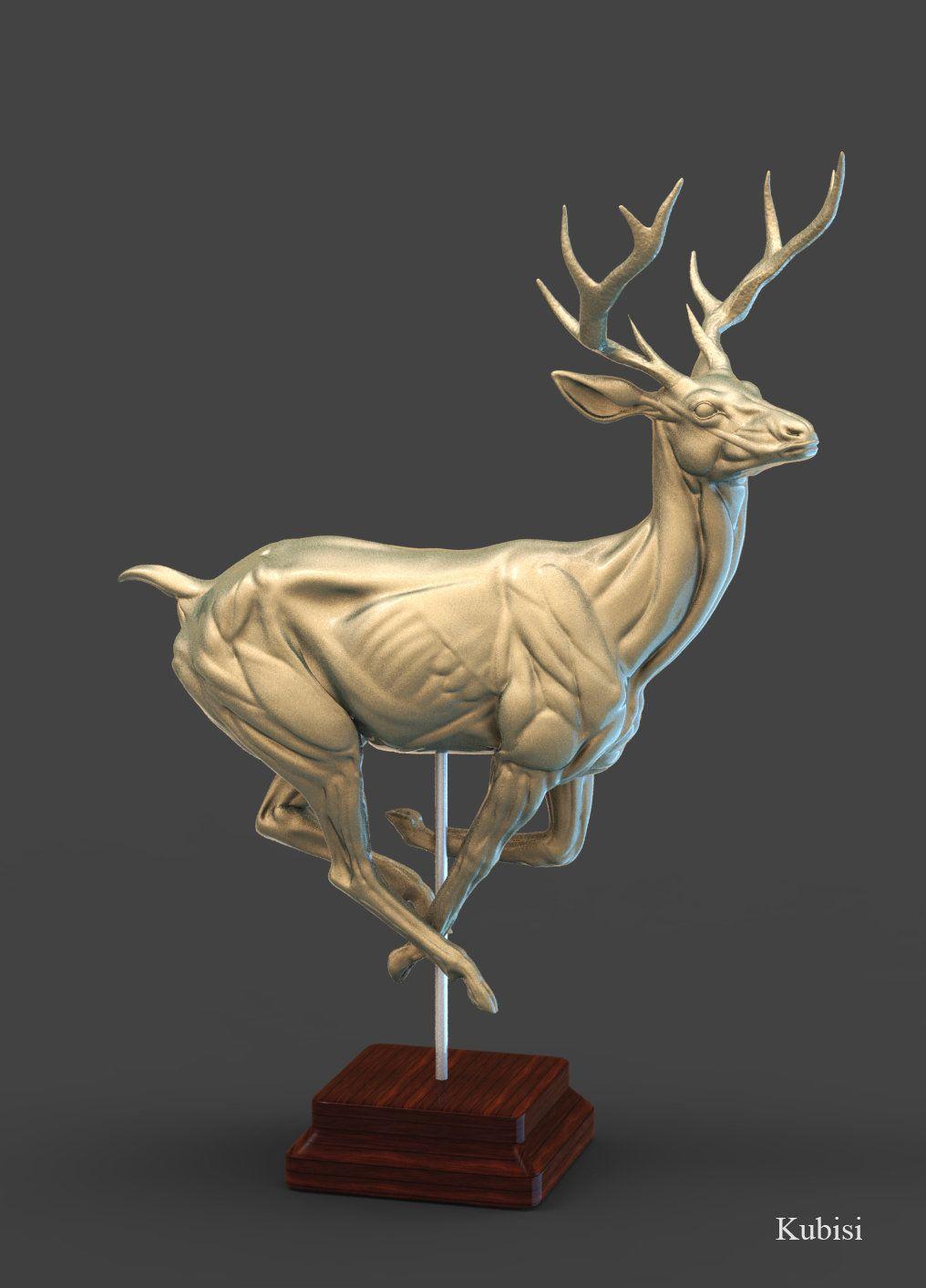 Deer, Abdelrahman Kubisi on ArtStation at https://www.artstation.com ...