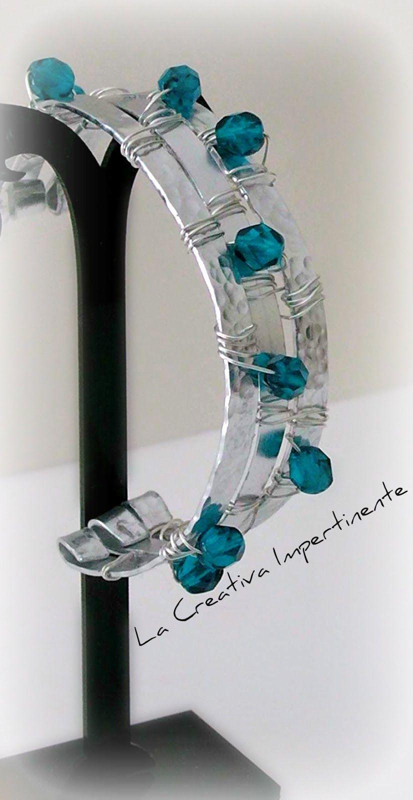 Bracciale in alluminio piatto - tecnica Wire | Bracelets, Wire ...