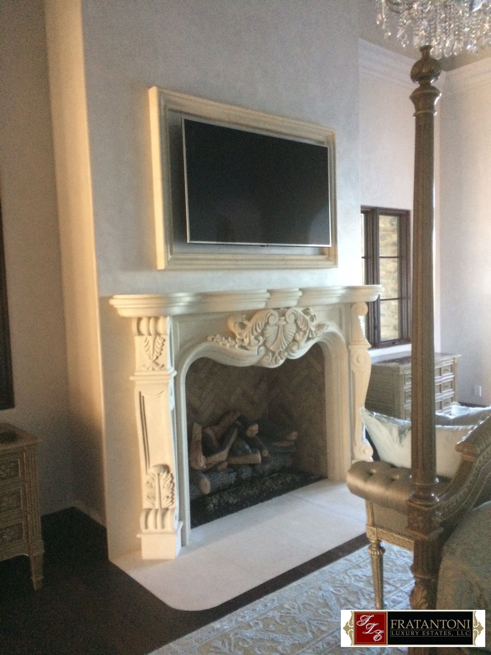 french country fireplace surround with over mantel in white cream