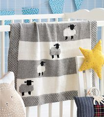 Sleepy Sheep pattern by Jacob Seifert #babyblanket