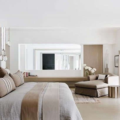 Discover bedroom design ideas on HOUSE - design, food and travel by House & Garden including Kelly Hoppen's neutral spacious house in west London