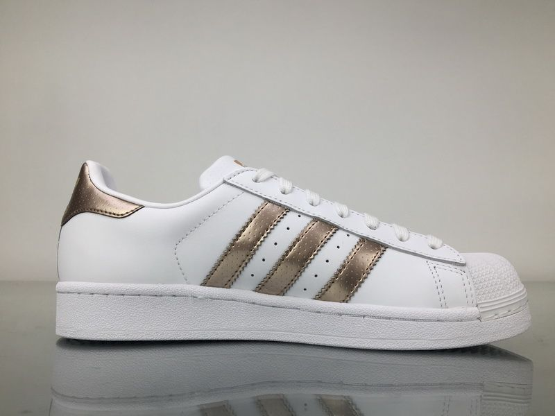 616c3f4820ed Adidas Superstar Rose Gold Copper White Shell Toes Original BB1428 Womens  Shoes4