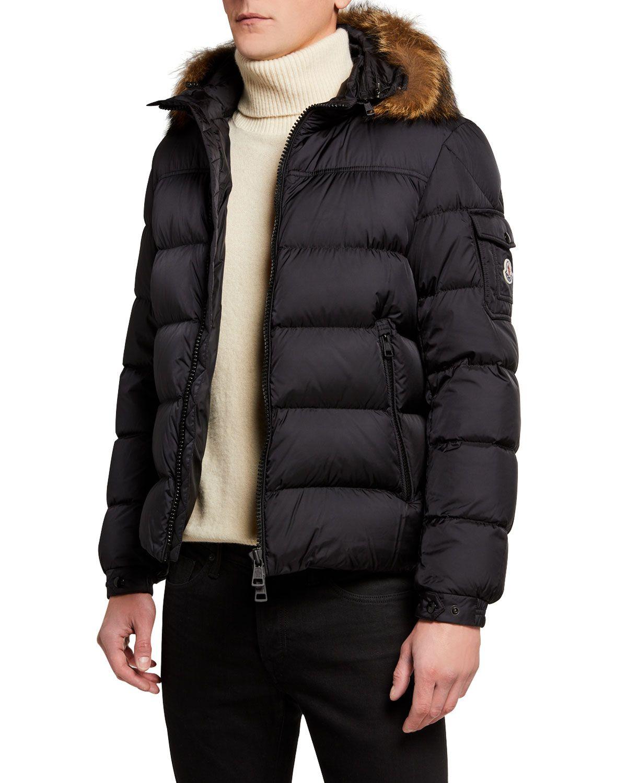 Men S Marque Fur Trim Puffer Jacket Jackets Puffer Jackets Moncler [ 1500 x 1200 Pixel ]