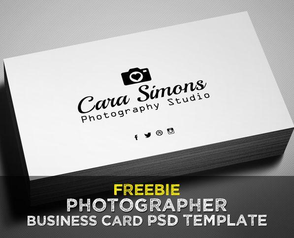 Freebie Photographer Business Card PSD Template Freebie - Business cards for photographers templates