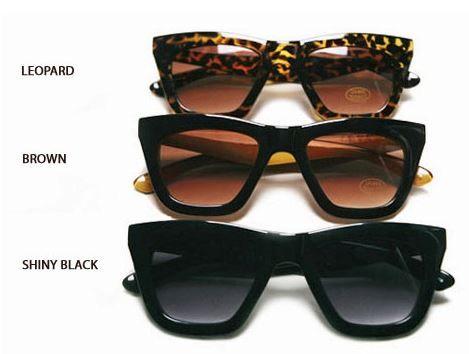 Oversized Retro Sunglasses - 05 Color: Matt black, Shiny black, Leopard Price: 15 $