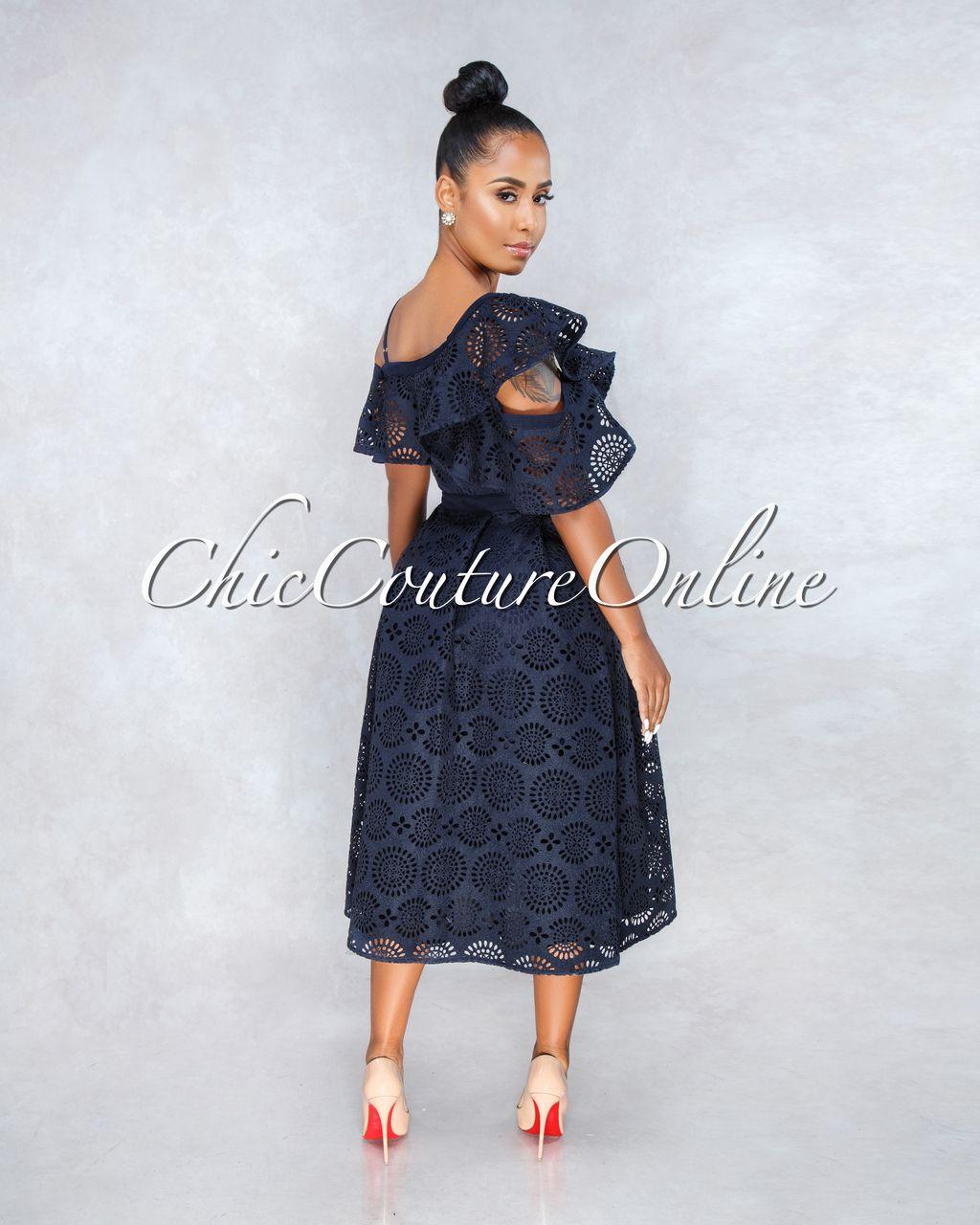 ec016b5e97 Manzie Blue Denim Bodycon Dress