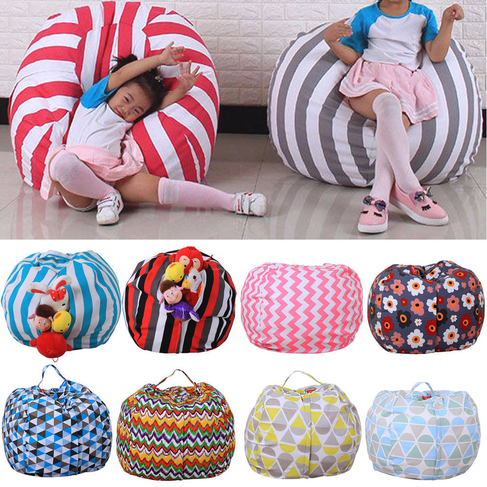 Terrific 9 59 Kids Storage Bean Bag Stuffed Animal Plush Toy Soft Andrewgaddart Wooden Chair Designs For Living Room Andrewgaddartcom