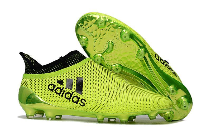New Adidas Football Boots Adidas X 17 Purechaos Fg Solar Yellow Legend Boots 2017 New Football Boots Free Ship Adidas Football Soccer Shoes Football Shoes