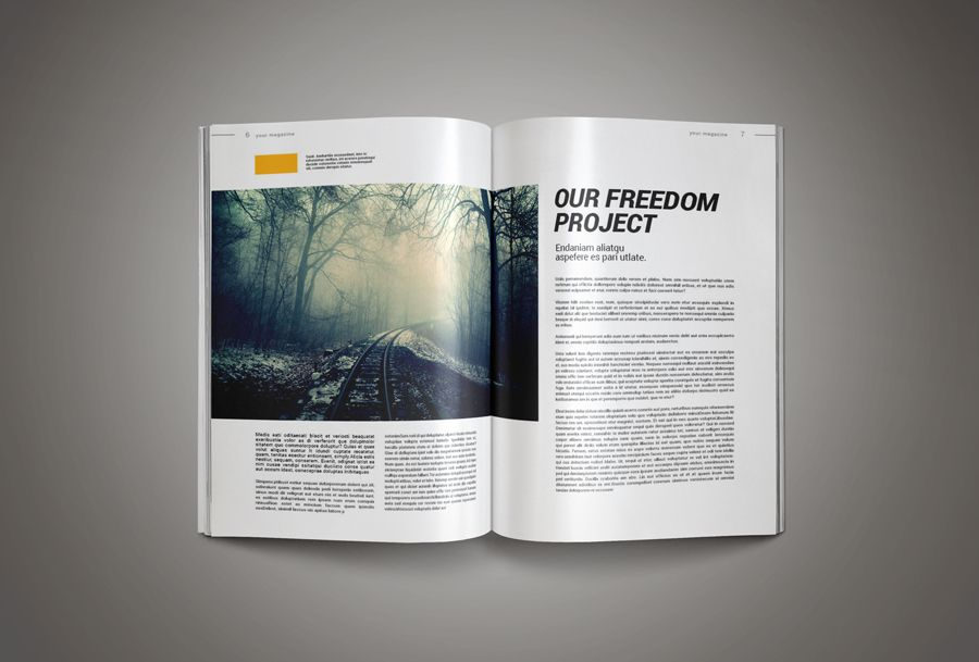 InkDesign Magazine Template | Indesign magazine templates, Template ...