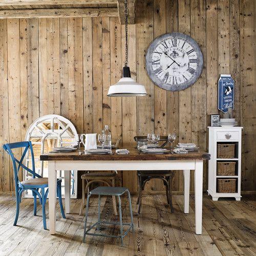 Déco murale en bois bleu 24 x 57 cm DAIRY MILK