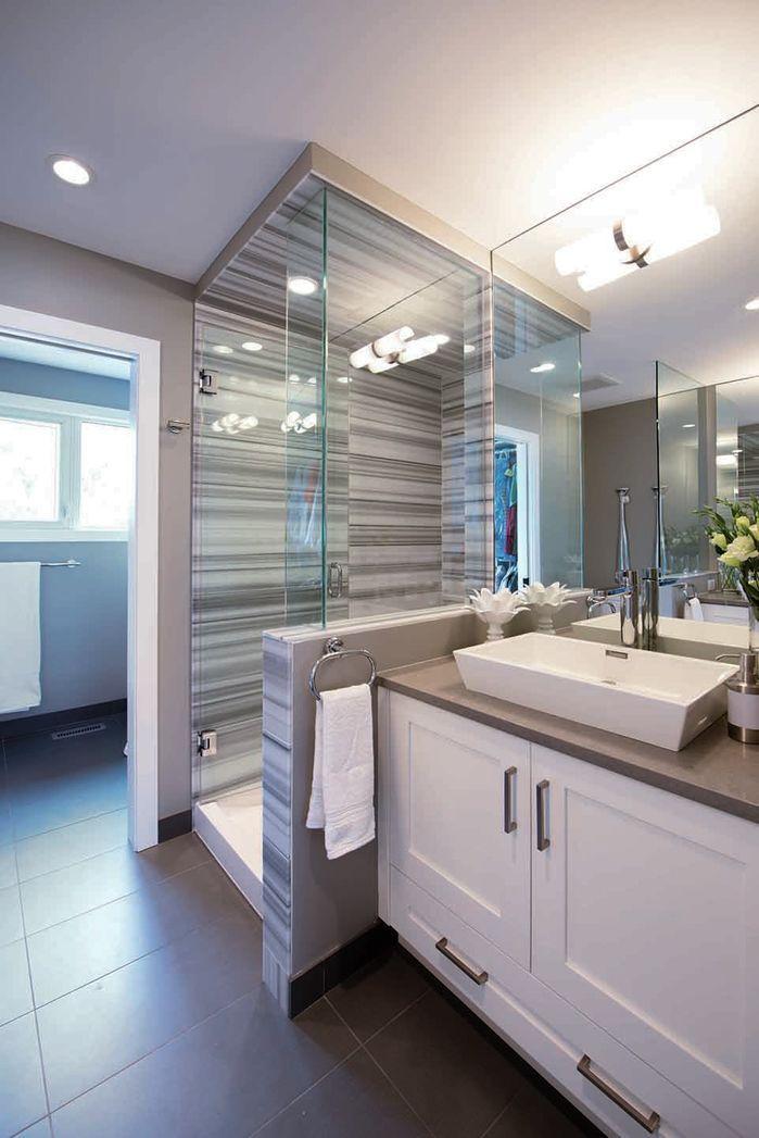 grey counter top  modern bathroom photoalykhan velji
