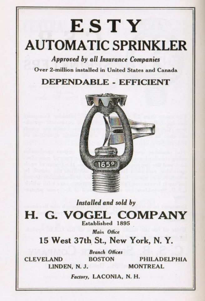 fire sprinkler not a clothes hanger lol fire safety fail  1941 esty fire sprinkler advertisment