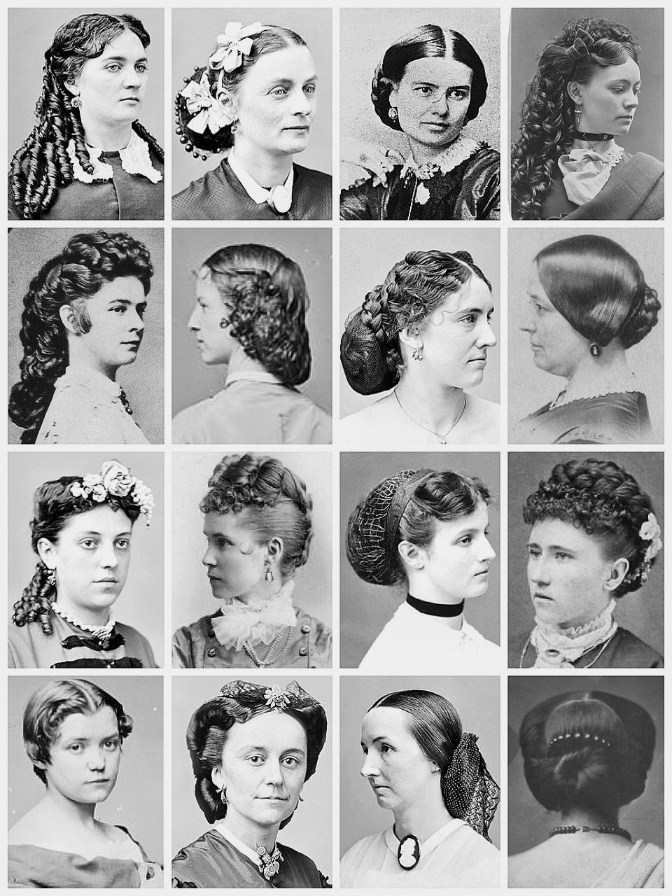 women's hairstyles early 1800s | retro and antique hair