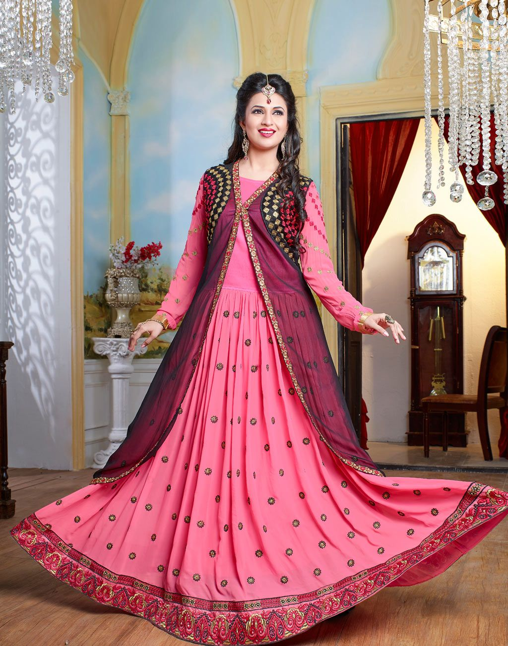 Divyanka Tripathi Pink Georgette Bollywood Suit 58833 | Bollywood ...