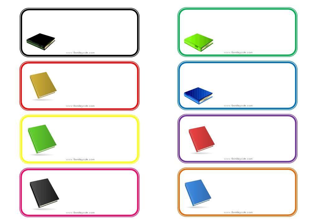 Diferentes Modelos De Etiquetas Escolares Para Descargar