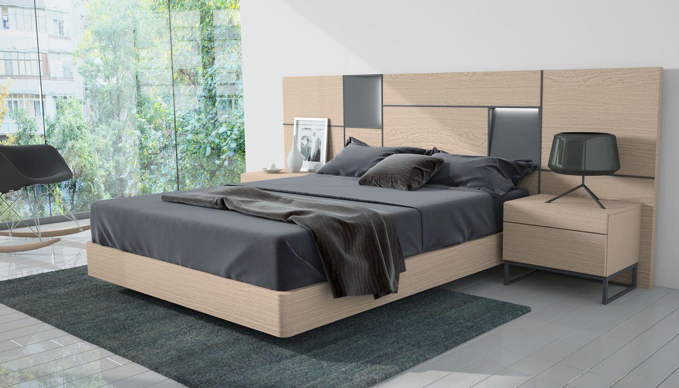 Mueble de dormitorio moderno 071b. Muebles acabados en chapa natural ...