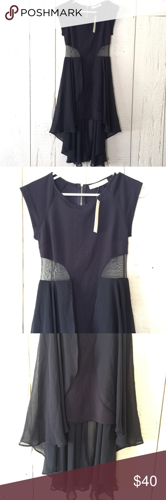 Bnwt Malloy Black Dress With Sheer Sides Clothes Design Dresses Fashion Design [ 1740 x 580 Pixel ]
