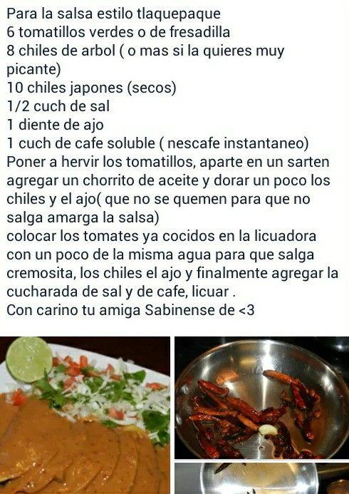 Salsa Estilo Tlaquepaque Comida Comidas Ricas Y Salsas