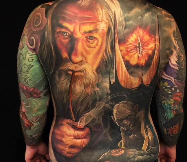 The Lord Of The Rings Tattoo By Jesse Rix Lord Of The
