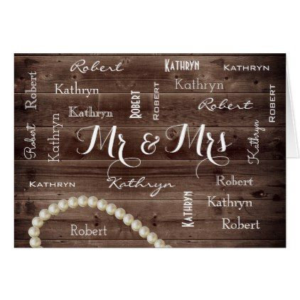 Mr Mrs Rustic Elegant Wedding Card Gifts Ideas Customize Personalize