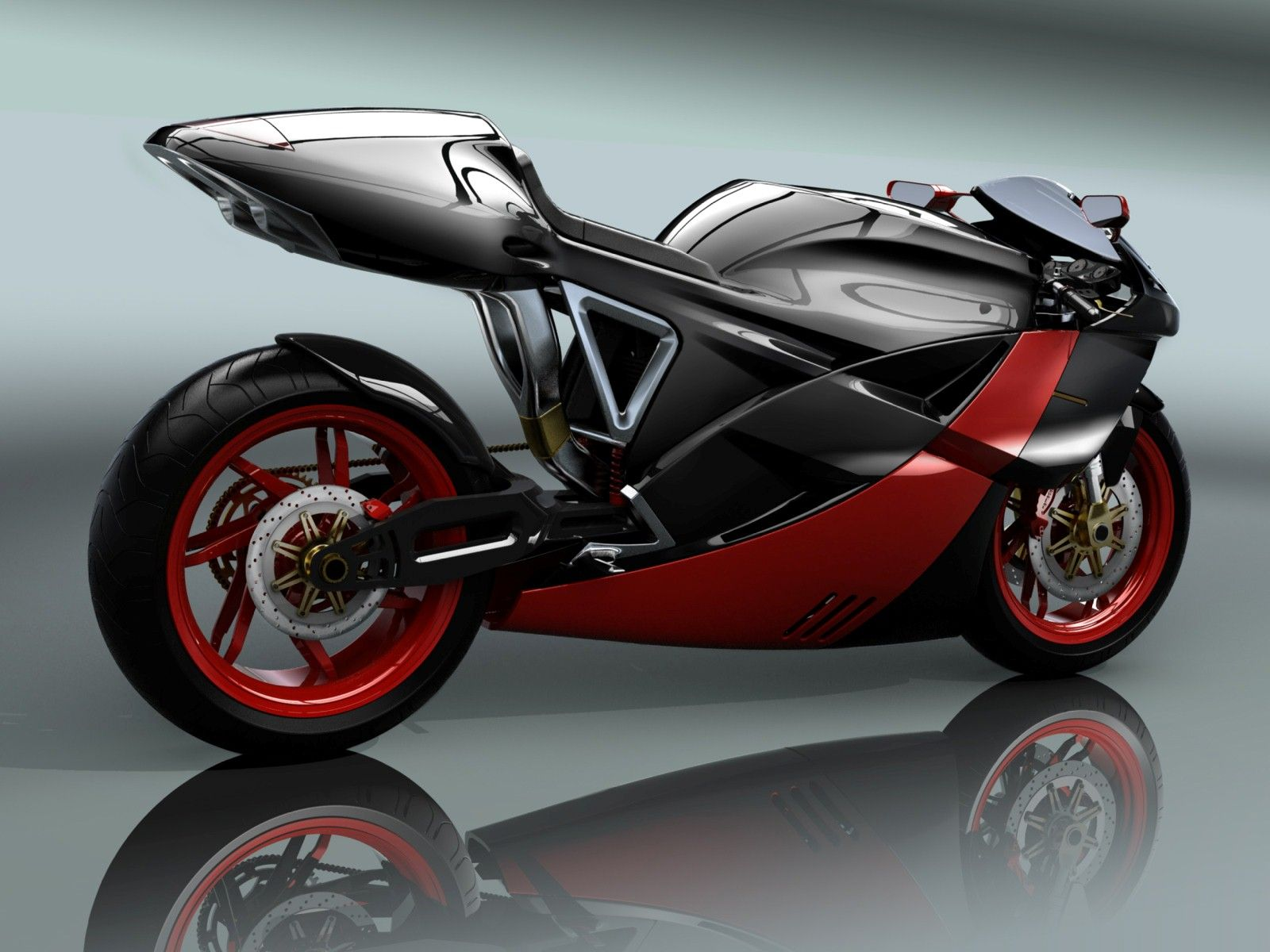 Super Latest New Red And Black Concept Bike Wallpaper Hd Famous
