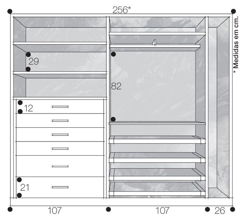 Closets e guarda roupas bem organizados closet for Planos de closet pdf