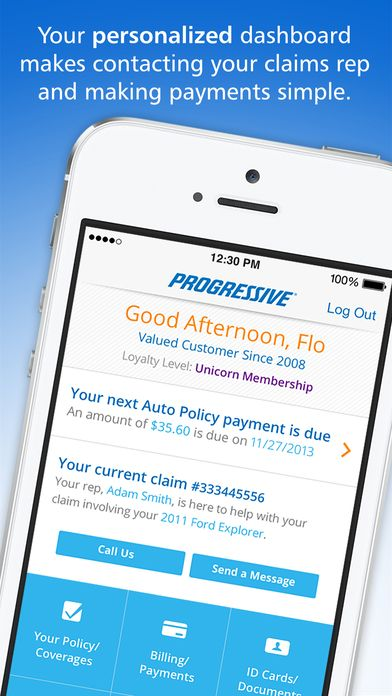 Iphone Screenshot 1 Progress Progressive Insurance Download App
